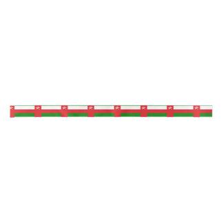 Omani flag satin ribbon