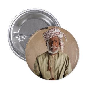 Omani Warrior: Cool Vintage Photo 1 Inch Round Button