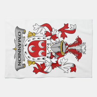O'Mannion Family Crest Kitchen Towel