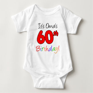Oma's 60th Birthday Baby Bodysuit