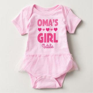 Oma's Girl Baby Bear Personalized Tutu T-shirt