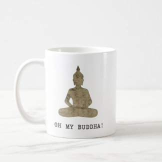 OMB Oh my buddha humor silhouette Coffee Mug