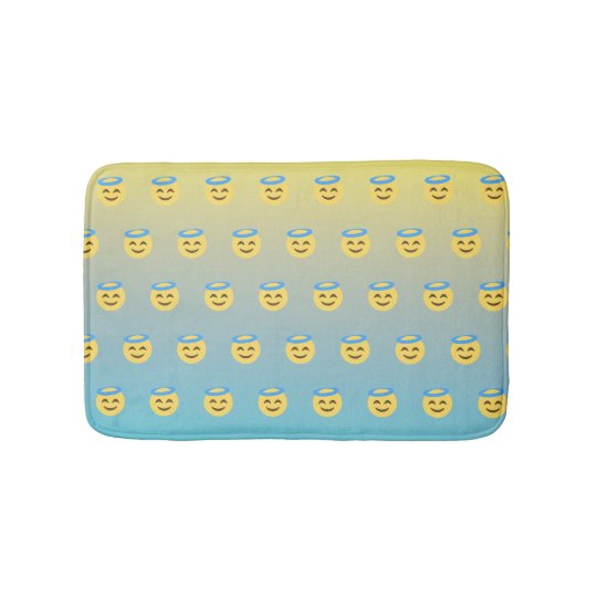 Ombre Angel Emoji Custom Bath Matt Bath Mat