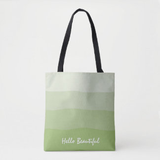 "Ombre' Artichoke ""Hello Beautiful"" Tote"