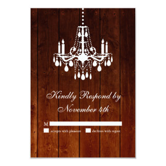 Ombre Barn Chandelier RSVP Card