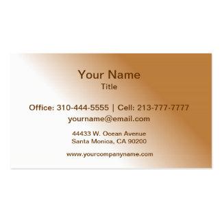 Ombre blanc bronzage foncé carte de visite standard