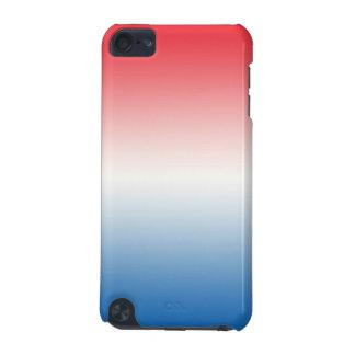 Ombre blanc et bleu rouge coque iPod touch 5G
