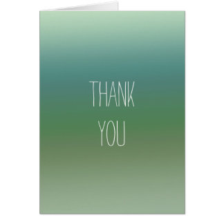 Ombre Blue Green Sea Note Card