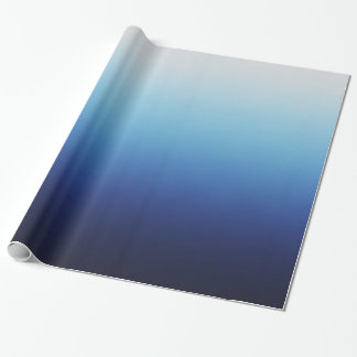 Ombre Blue Wrapping Paper