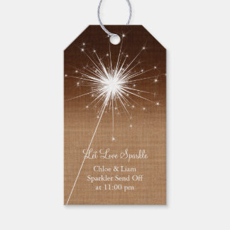 Ombre Burlap Sparkler Gift Tag Pack Of Gift Tags