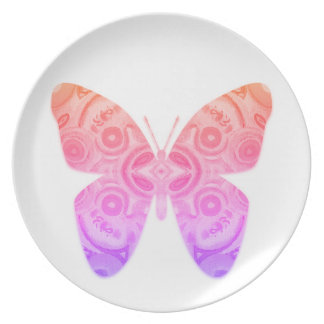 Ombre Butterfly Dinner Plates