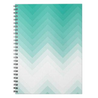 Ombre Chevron Emerald Green Note Book Gradient