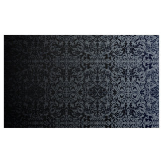 Ombre Damask Silver/Black LOPd Fabric