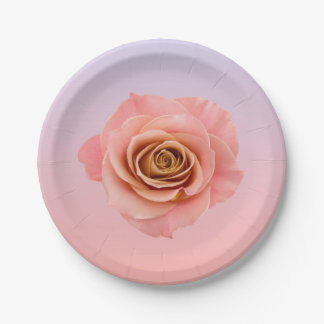 Ombre Floral Paper Plate