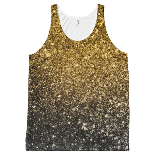 Ombre glitter sparkling All-Over-Print tank top