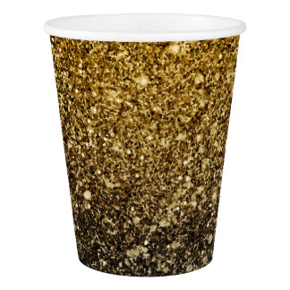 Ombre glitter sparkling paper cup