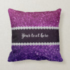 Ombre glitter sparkling throw pillow
