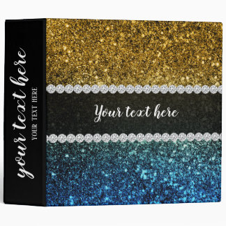 Ombre glitter sparkling vinyl binders