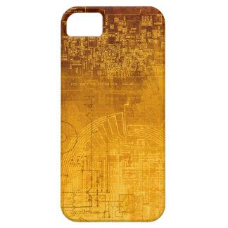 Ombre Gold Circuit Board computer geek nerd iPhone 5 Case