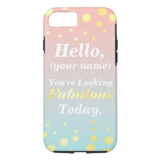 Ombre Gold Fabulous Cell Phone Case