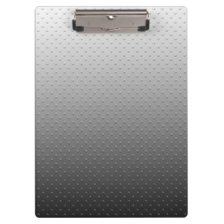 Ombre Gray Faux Metal Texture Look Clipboard