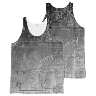 Ombre Gray to Black circuit board nerd geek