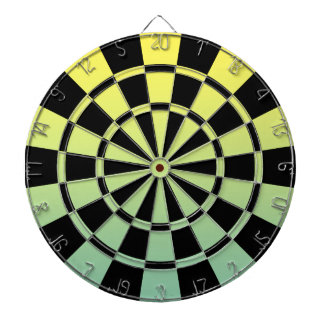 Ombre Green Yellow And Black Dart Board