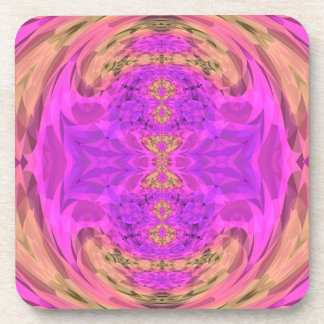 Ombre Kaleidoscope 3 Drink Coasters