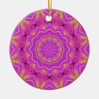 Ombre Kaleidoscope 4 Ceramic Ornament