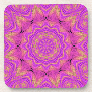 Ombre Kaleidoscope 4 Drink Coasters