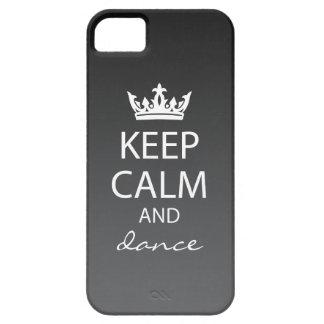 Ombre Keep Calm iPhone 5 Case-Mate Case black