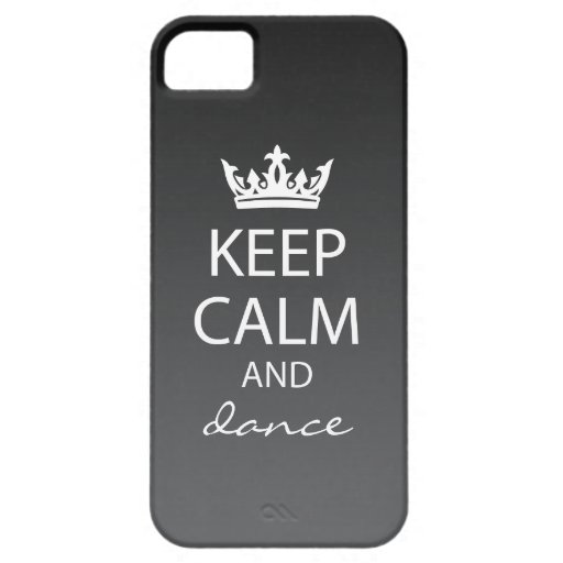 Ombre Keep Calm iPhone 5 Case-Mate Case (black)