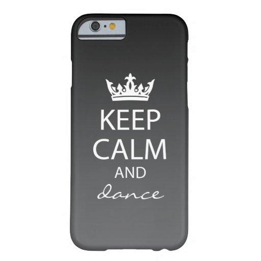 Ombre Keep Calm iPhone 6 Case (black)