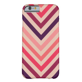 Ombre Magenta Chevron Stripes iPhone 6 case