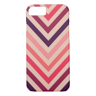 Ombre Magenta Chevron Stripes iPhone 7 case