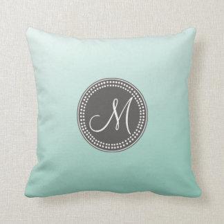 Ombre Mint Green Throw Pillow