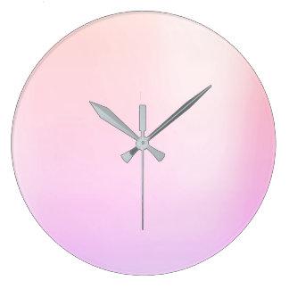 Ombre Pearly Rose Pink Metallic Swarovski Crystal Large Clock