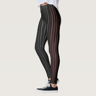 Ombre Pine Striped Leggins Leggings