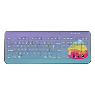Ombre Rainbow Poop Emoji Wireless Keyboard