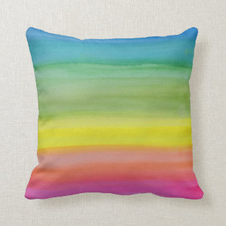 Ombre Rainbow Watercolor Print  Cushion