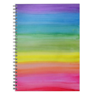 Ombre Rainbow Watercolor Print Notebook