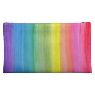 Ombre Rainbow Watercolor Print Small Cosmetic  Bag