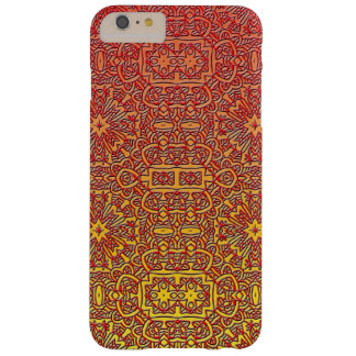 Ombre Red Orange Design Abstract Line Art Barely There iPhone 6 Plus Case