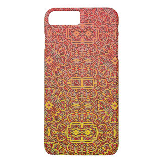 Ombre Red Orange Design Abstract Line Art iPhone 7 Plus Case