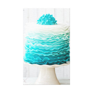 Ombre ruffle cake gallery wrap canvas