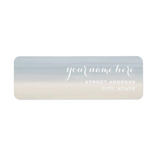 Ombre Shore Address Label