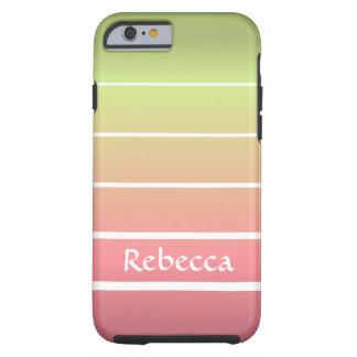 Ombre Stripes Tough iPhone 6 Case