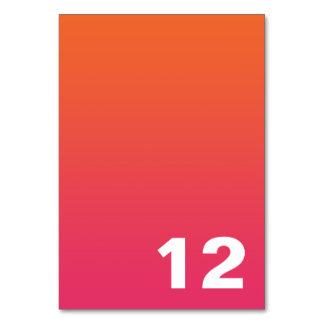 Ombre Table Number Table Cards