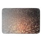 Ombre terracotta copper sparkle shiny glitter bath mat