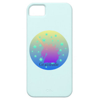 Ombre unicorn with word gratitude iPhone 5 cover
